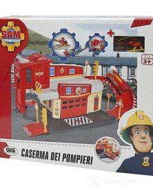 Sam Il Pompiere Caserma dei Pompieri con Rampa e Pista di Atterraggio