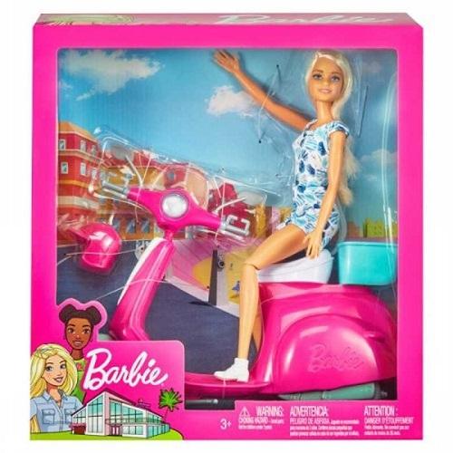 Barbie con scooter -Mattel
