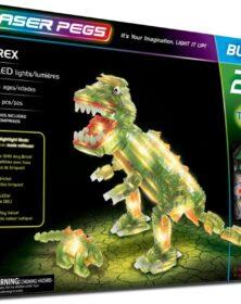 Laser Pegs- Set Costruzioni Luminose 20 in 1-T-Rex
