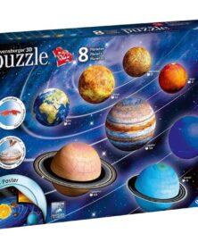 Puzzle 3D da 522 PEZZI SISTEMA SOLARE 8 pianeti + POSTER planetario Ravensburger