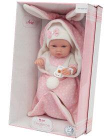 ARIAS – Bebè 33 cm coperta con orecchie Rosa