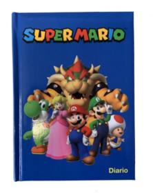 Diario scolastico Super Mario Bros standard 12 mesi 2021-2022 - blu o rosso